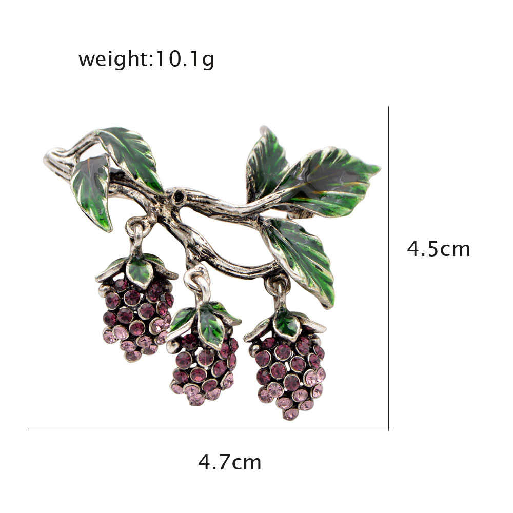 Cindy Xiang Luxe Strass Druiven Broches Voor Vrouwen Fashion Fruit Pins Emaille Vintage Design Sieraden Jas Accessoires Gift