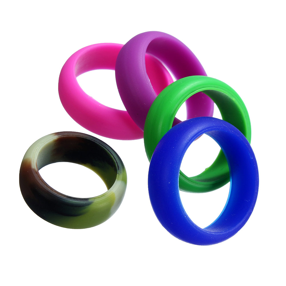 ring blue night elegance rubber conquer products kauai wedding silicone rings timeless collection