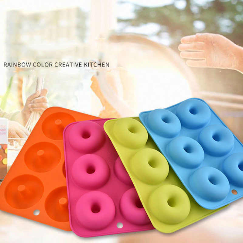 Round Shape Silicone Cake Chocolate Decoration Muffin Baking Pastry Tool Doughnuts Mold Donut Mold Baking Jelly Fondant