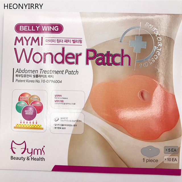 30 Days 10pc Mymi Wonder Patch Quick Slimming Patch Belly Slim Patch