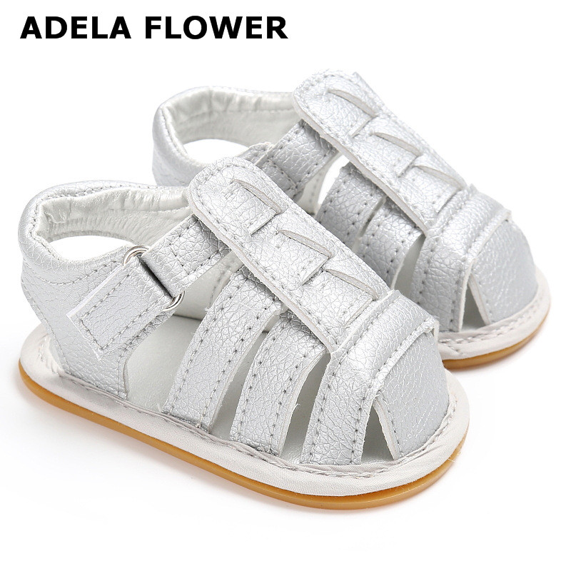 2017 New Summer Kids Shoes Brand Closed toe Toddler Boys Girls Beach Sandals PU Leather Baby Boy Sandals Shoes chaussure garcon