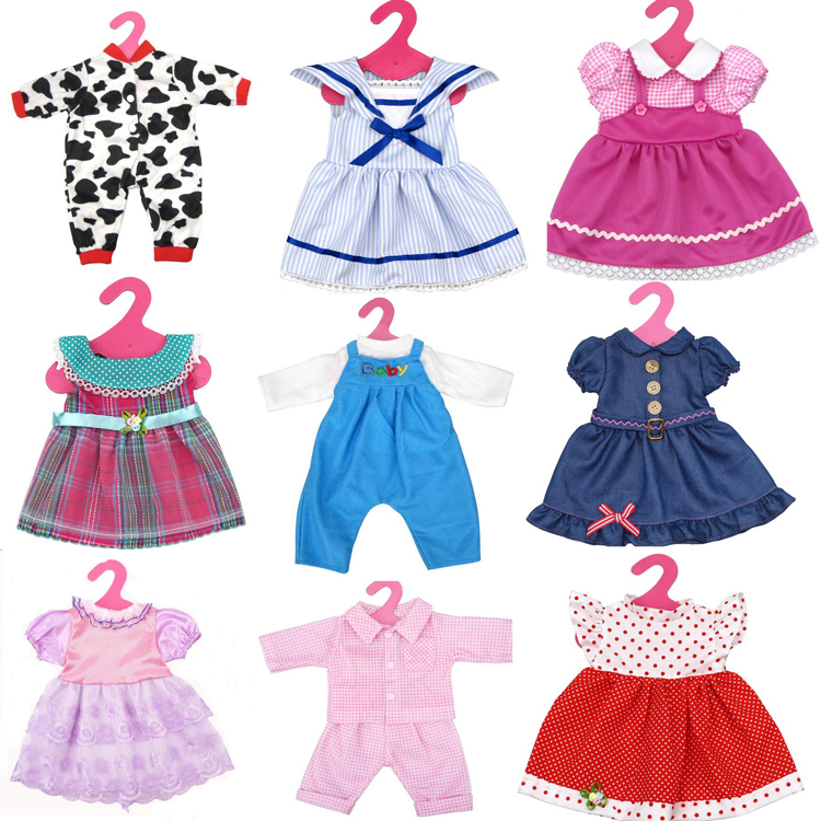 "18 inch American Girl Doll Clothes dress for 18"" zapf Baby born Doll out fit Accessory"