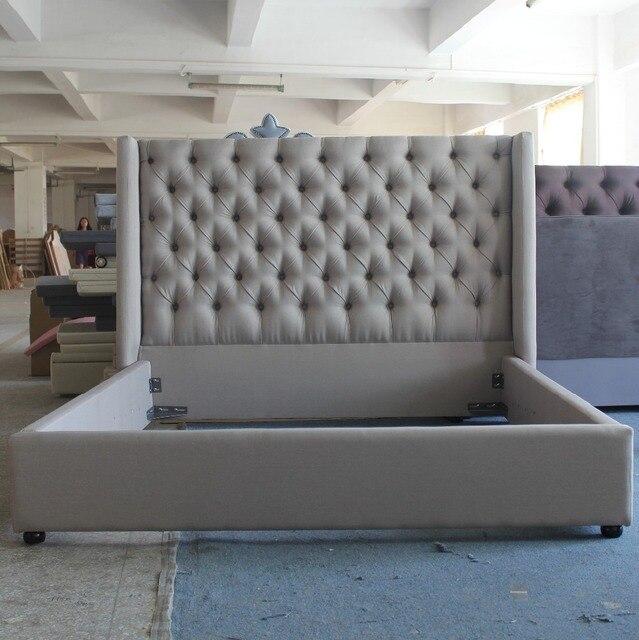 Dormir cama de tejido de estilo moderno de moda de lujo muebles para ...