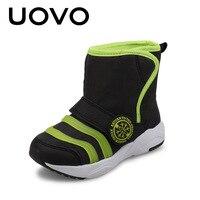 Uovo 2017 nuevos niños deportivo Botas cálido y elegante niños Zapatos niño y niños pequeños Niños y Niñas Botas negro pink EUR 24-31