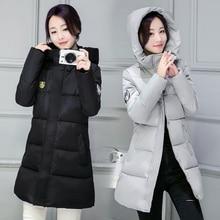Дешевые wholesale2016new осень зима вниз хлопок длинный теплый мода повседневная Куртка женская тонкий плюс размер одежды женщины основные пальто