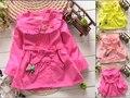 BibiCola children clothing girls trench jackets outerwear spring autumn coat baby girl christmas flower fashion kids belt jacket