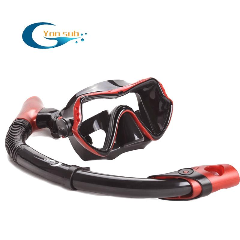 Gratis frakt Silikondykning Mask, Dry Snorkel För Scuba Dive Set - Vattensporter