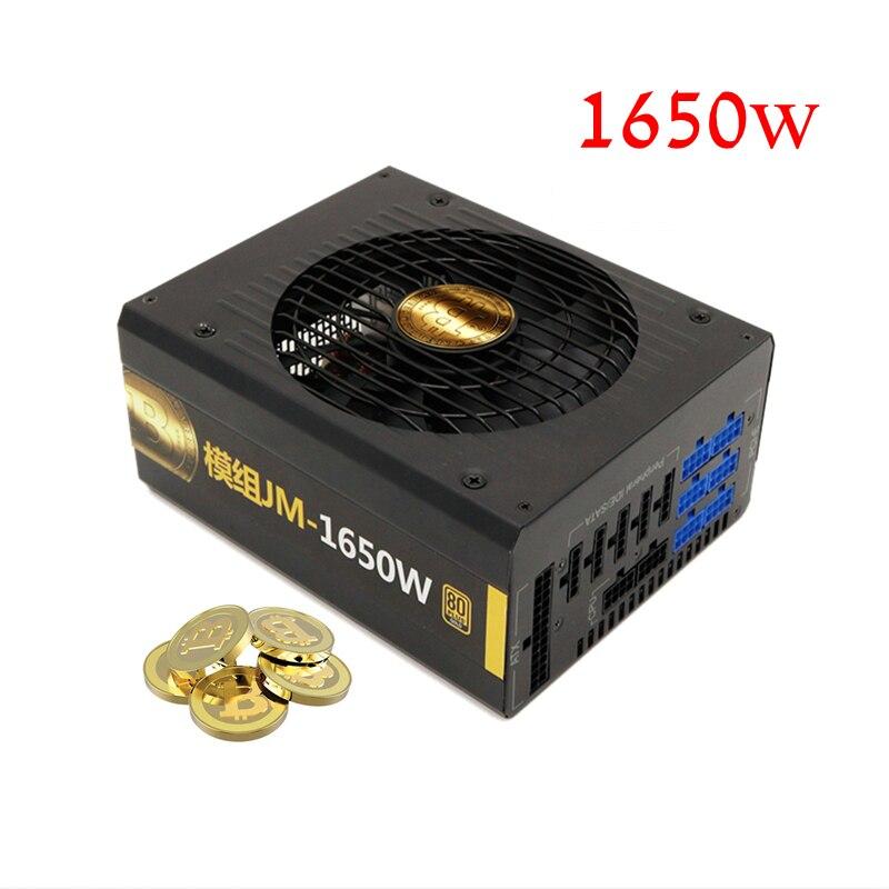 PC Poder Suppl 1600 W Real Fonte de Máquina de Mineração Bitcoin Cryptocurrency ETH PSU ATX Suporta GPU Cartões R9 370/380 RX 470/480/570