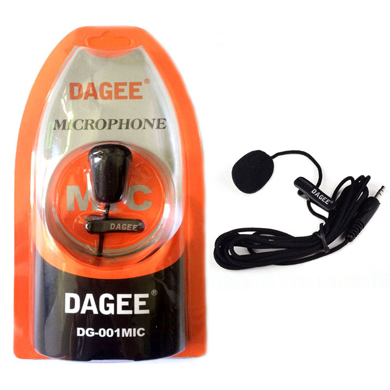Dagee DG-001MIC Mini Lavalier Microphone Portable Clip-on Lavalier 3.5mm Plug Microphone High Quality For Phone Computer Tablet