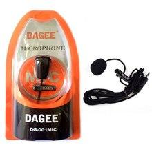 Dagee DG 001MIC Mini micrófono de solapa portátil con Clip de la solapa de enchufe de 3,5mm micrófono de alta calidad para el teléfono de la tableta de la computadora