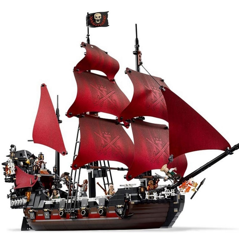 Pirate Ship the Queen Annes Revenge Pirates of the Caribbean Model Building Blocks Set Bricks legoinglys Kids gifts for childPirate Ship the Queen Annes Revenge Pirates of the Caribbean Model Building Blocks Set Bricks legoinglys Kids gifts for child