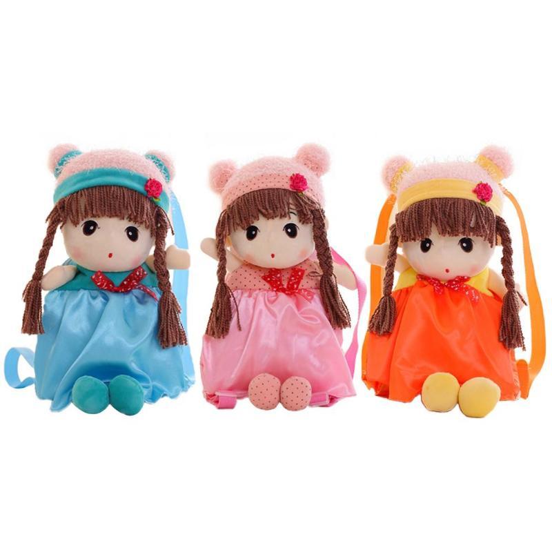 Cute Soft Girls Doll Small Backpacks Kindergarten Kids Shoulder Bags Children Casual Cartoon Doll Toys Bag