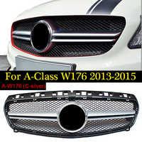 Für Mercedes W176 EINE Klasse A45 Stil Kühlergrill Grill Racing Grills ABS Silber A180 A200 A250 Direkt 1:1 Ersatz 2013-15
