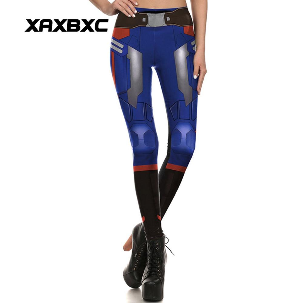 New 1645 Sexy Girl Leggins  Captain America 1 Belt Printed Polyester Elastic Fitness Workout Women Leggings Pants
