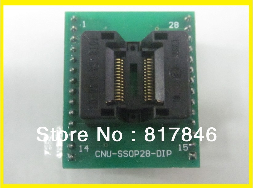Livraison gratuite!!! CNV SSOP28 à DIP28 Adaptateur Universel pour USB Programmeur IC Adaptateur Sockets