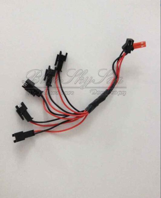 Free Shipping! 5 IN 1 Battery charging cable charger for JJRC H8C F183 H8D Quadcopter Drone