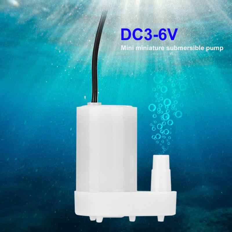 DC3-6V Low Noise Brushless Motor Pompa Mini Mikro Submersible Pompa Air