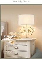현대 테이블 램프 책상 램프 조명 꽃 디자인 구리 밤 조명 연구 거실 바 웨딩 장식 조명