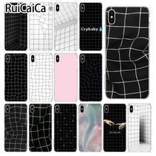 Ruicaica Artistic black and white lattice Soft Silicone Phone Case for Apple iPhone 8 7 6 6S Plus X XS MAX 5 5S SE XR Cover(China)