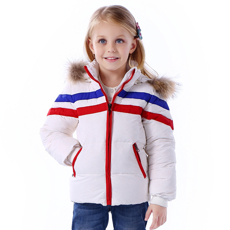Children Jackets Winter Warm Down Coat jackets Boys Fur Collar Baby Down Kids Clothing Outerwear Infant Overcoat Girls Parka