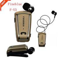 Fineblue Original Mini Retractable Stereo Bluetooth Headset Wireless Clip Headphone Earphone For IPhone Samsung All Phone