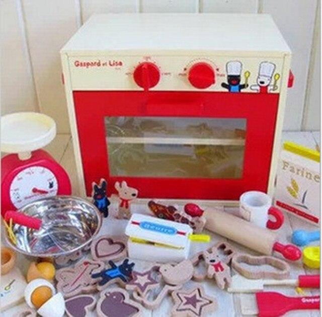 Nuovo giocattolo di legno Biscotto forno Cucina giocattolo set ...