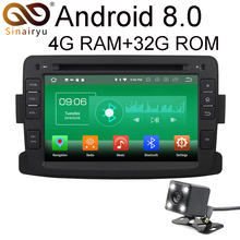 HD 7″ IPS Screen 4GB RAM Android 8.0 Car DVD GPS Multimedia For Renault Dacia Duster Lada Captur Stereo Radio 4G WiFi Network