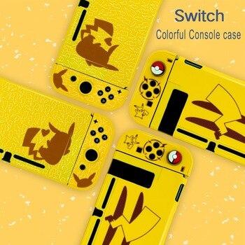 Para Nintendo interruptor protector duro elfo de la cola de la cubierta de la caja de NS interruptor consola Joy-Con juego Pika Eevee dividir la cáscara colorida