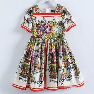 Image 1 - Beenira odzież dziecięca 2020 nowy letni styl dzieci z krótkim rękawem moda kwiat księżniczka sukienki projekt dla dziewczynek odzież Derss