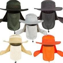 Воздухопроницаемые рыболовные кепки солнцезащитный козырек для спорта на открытом воздухе для кемпинга и пешего туризма солнцезащитная Кепка для лица и шеи защитная Кепка для рыбалки