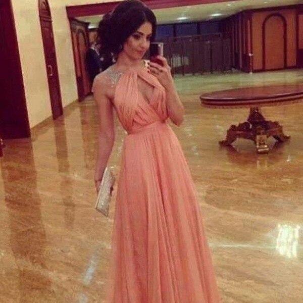 Персиковые вечерние платья фото - Модадром 3ba4286fcfa