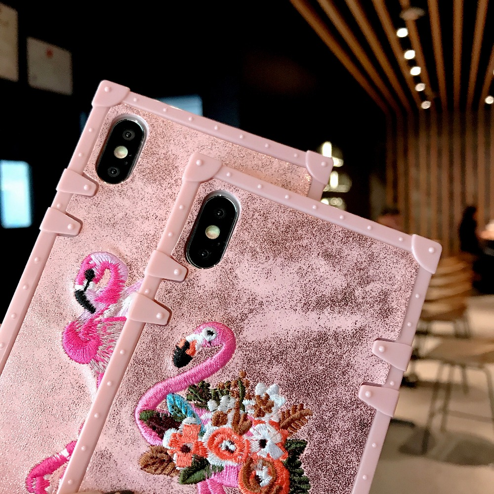 Cases For Huawei P20 Pro P20 Cover 3D Pink Embroidery  (9)