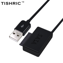 TISHRIC USB 2.0 to SATA 7+6 Cable Converter External Optical Drive Adapter For Laptop CD-ROM DVD With LED
