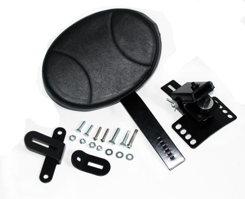 Здесь продается   New Black Adjustable Plug In Driver Rider Backrest Kit Pad For Harley Touring FLTR FLHT FLHR  Автомобили и Мотоциклы