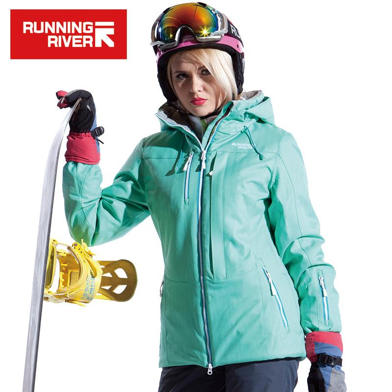 Prix pour RUNNING RIVER Femmes Neige D'hiver Ski Veste Imperméable Coupe-Vent Chaud Ski Vestes de Neige D'hiver En Plein Air Sport Manteau # A4053