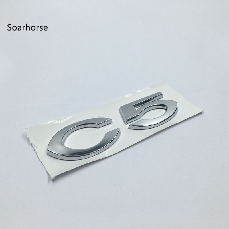 Soarhorse For Citroen C5 Letters Mark Logo Badge Emblem Decal Car Rear Trunk Lid Nameplate Decals soarhorse car rear trunk lid emblem badge nameplate decal for chevrolet cruze letters logo sticker