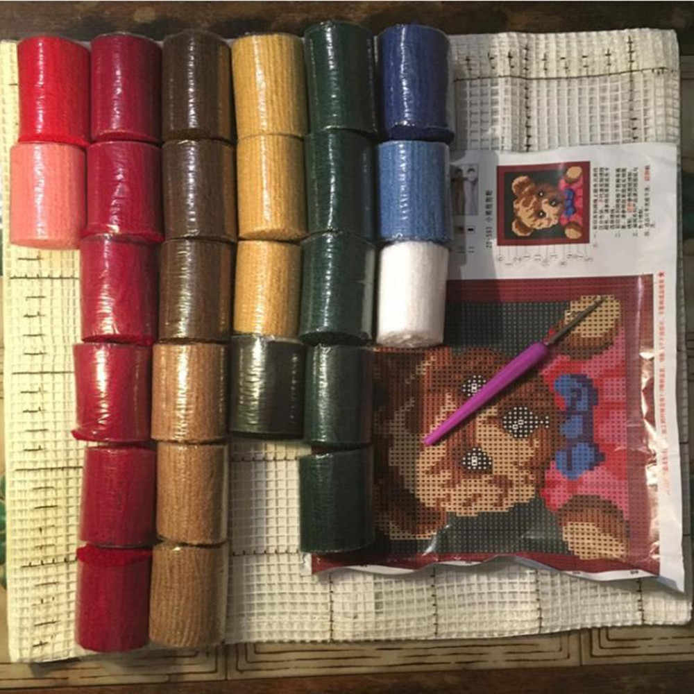 Кошка картина Защелки крюк ковер наборы крючки вязальные Вязание иглы войлочные наборы для поделок для вышивки стежка нить вышитый ковер