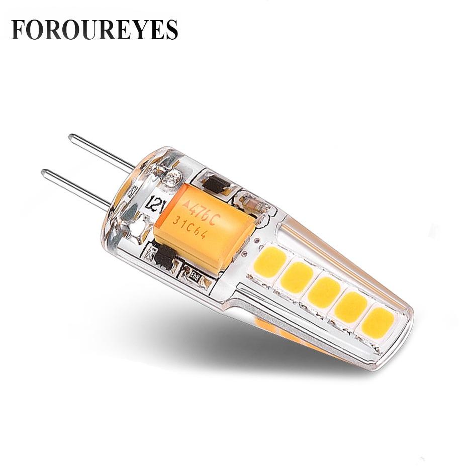 G4 Led Bulb 12V Mini Silicone SMD2835 10LEDS Super Bright 360 Degree Angle Beam Led Lamp For Home Lighting Crystal Chandelie