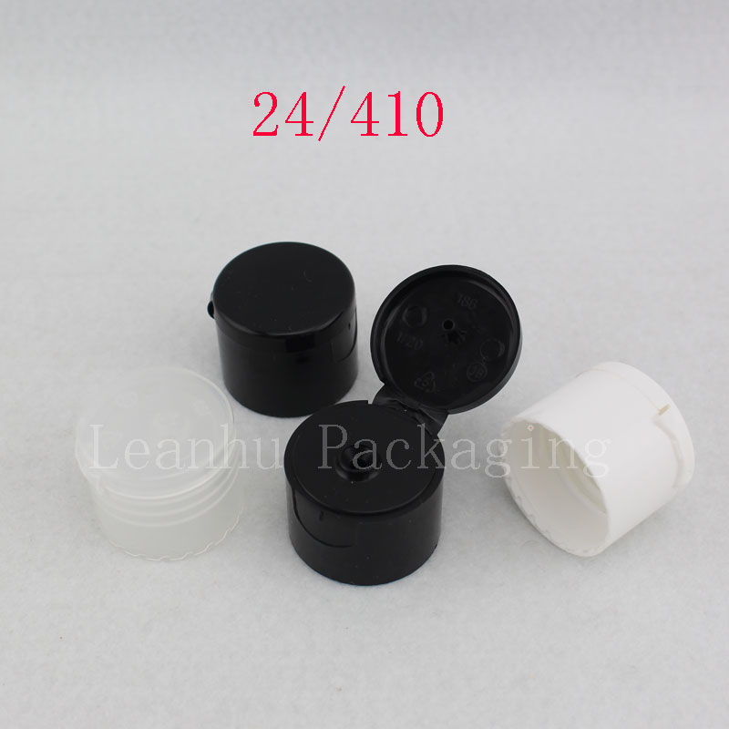 24 / 410 Plastic Flip Top On Screw Caps  20 / 410  PP Flip Top On Lids For Plastic Bottle  Glass Cosmetic Containers Packaging