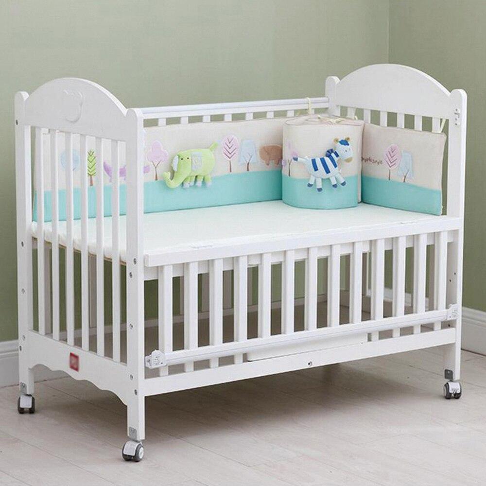 Bébé protection pour lit Avec Éléphant Zèbre Jouets Couchage parure de lit Brodé Conception Respirant Lit Protecteur Utile Bébé Pare-chocs