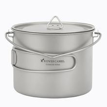 Rover Camel 0.9L Titanium Pot Ultralight Outdoor Camping Cookware Picnic Cooking 900ml with long handel