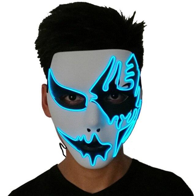Despeje Tres Modos De Luz El Alambre Mascara Fantasma Led Neon