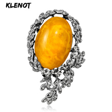 New Antique Silver Flower Brooches Natural Stone Brooch For Women Crystal Pins Big Stone Brooch Bouquets For Decoration Jewelry stone brooch flower pins and brooches for women jewelry ancient silver flower brooch natural gemstone craft material scarf pins