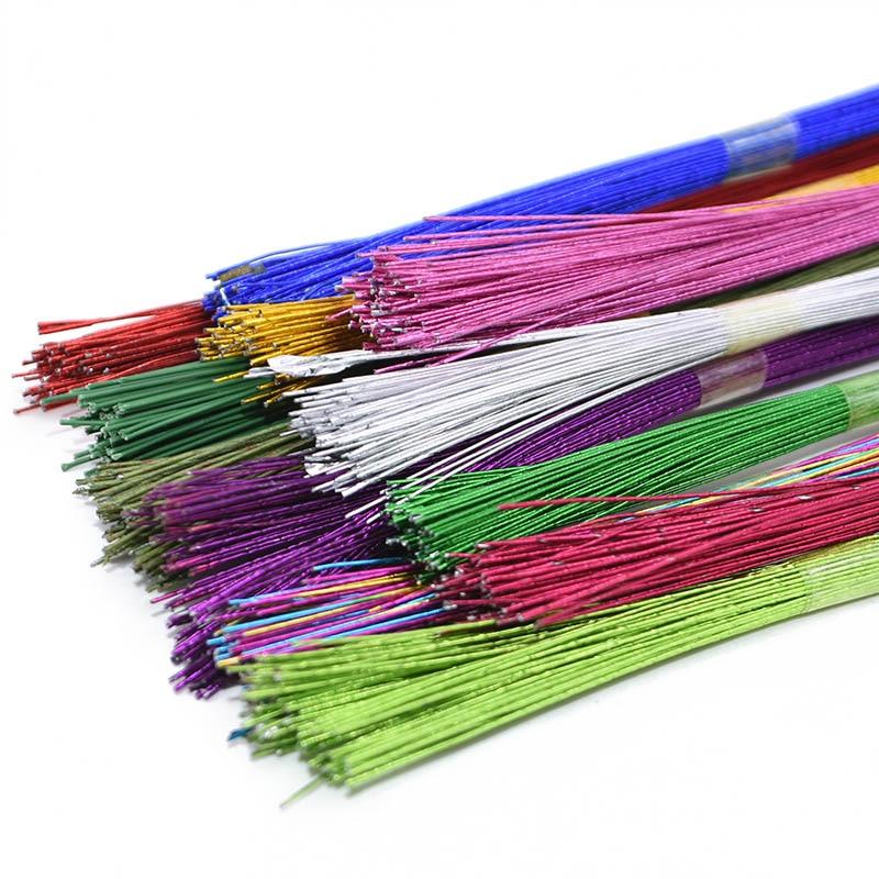 Проволока для цветов в нейлоновой оплетке, Диаметр 0,45 мм, 25 шт., 80 см