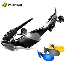d9ce00ade6 JackJad Smart Wireless Bluetooth Outdoor Sports Sunglasses Google With  Headphone