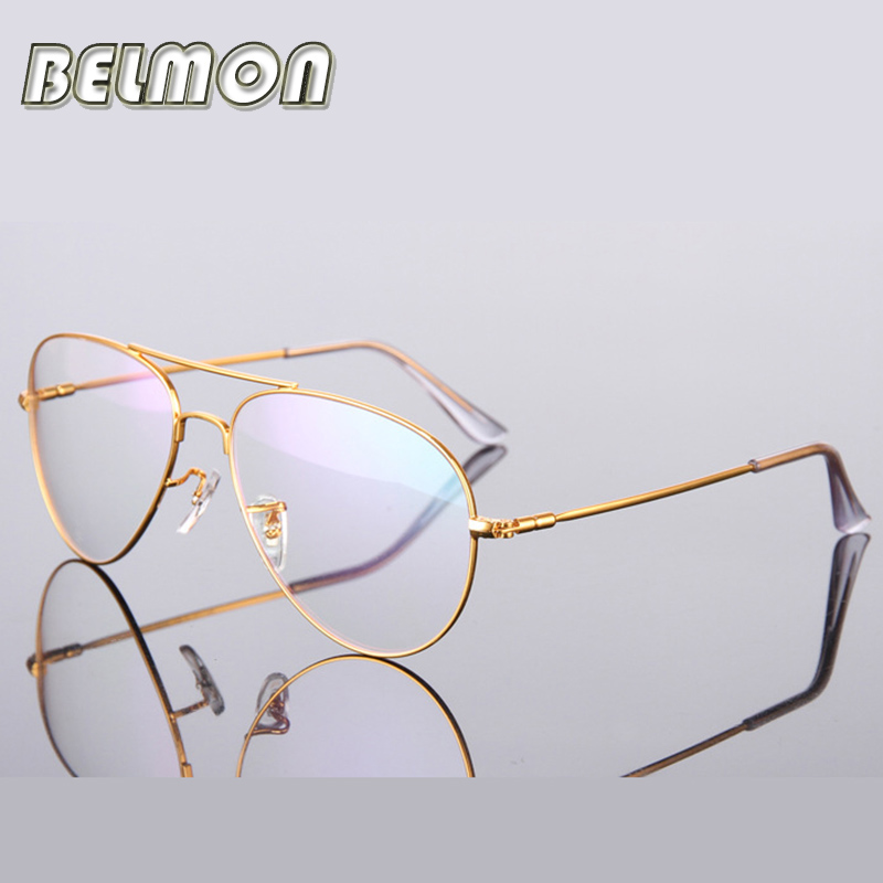 gold glasses frame women men computer optical eyeglasses spectacle frame for womens transparent male armacao oculos