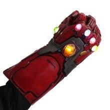 Светодиодный Мстители эндгейм Железный человек гаунтлет танос Бесконечность гаунтлет Железный человек нано гаунтлет Броня Тони Старк косплей перчатки реквизит