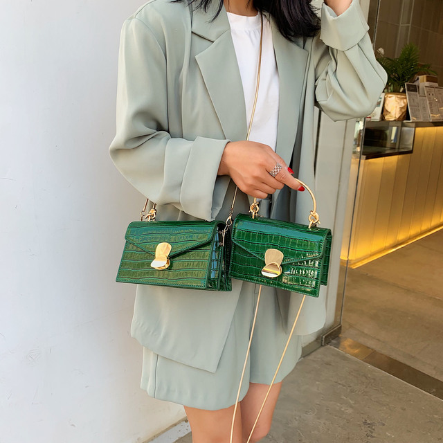 Stone pattern PU Leather Crossbody Bags For Women 2020 Mini Shoulder Messenger Bag With Metal Handle Lady Travel Totes 3
