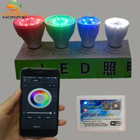 9W 2 4G RF Led Remote Control WIFI Control Wireless RGBW Led Light Bulb