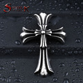 Steel soldier Stainless Steel double cross flower pendant men jewelry fashion popular necklace pendant jewelry